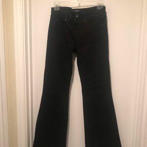 White House Black Market Flare Jeans in Black